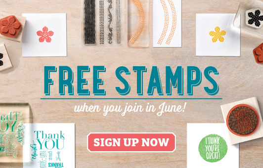 Join in June for BONUS 2 free stamp sets