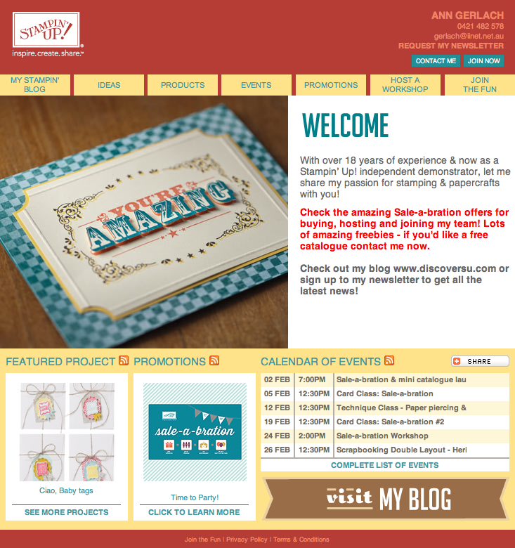 Discover Stampin' Up! Website